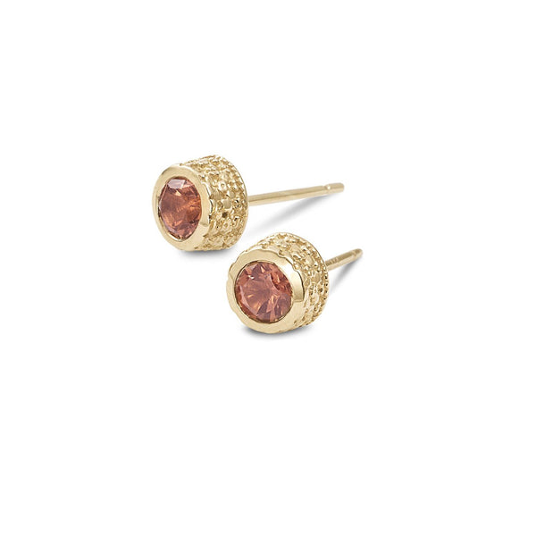 Pink Tourmaline stud earrings - shiri tam fine jewelry