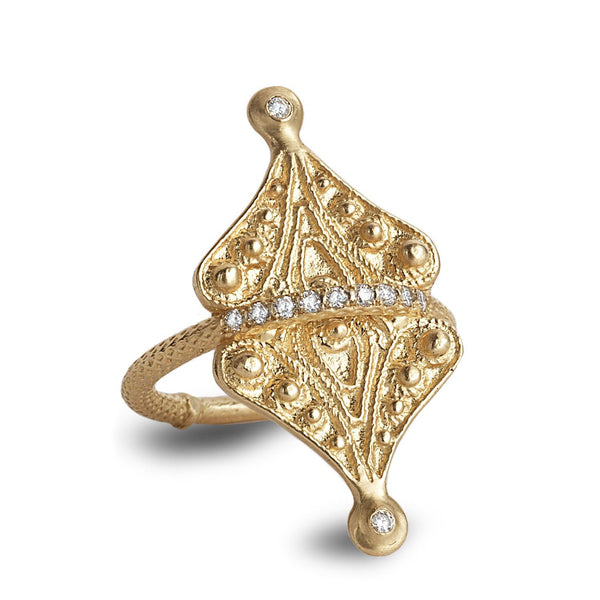 Statement ring with diamonds - shiri tam fine jewelry