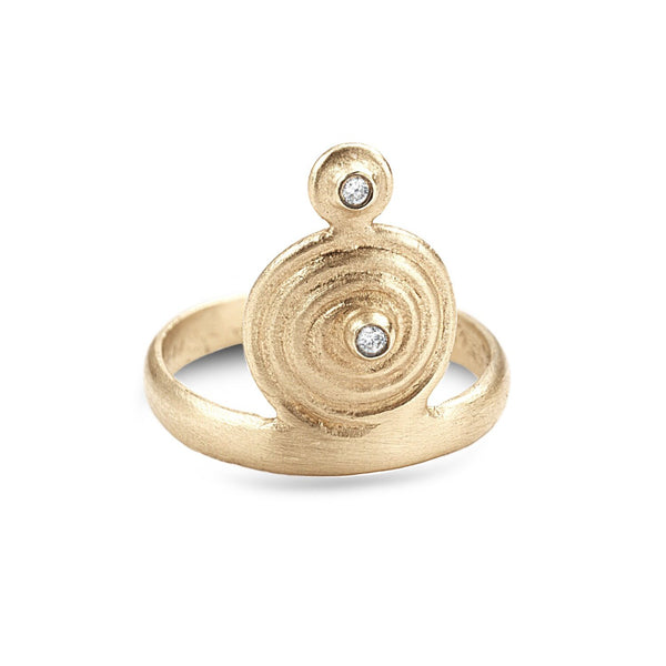 Spiral midi ring with diamonds - shiri tam fine jewelry