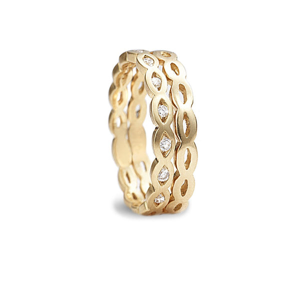 Stack marquis midi band rings with half way diamonds - shiri tam fine jewelry