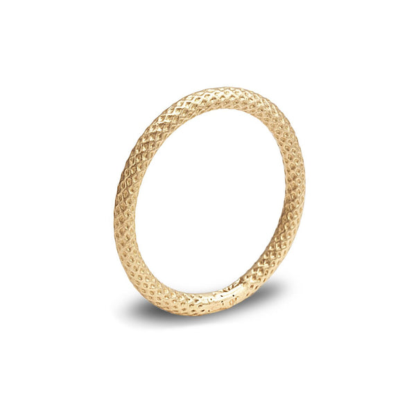 Texture thin band ring - shiri tam fine jewelry