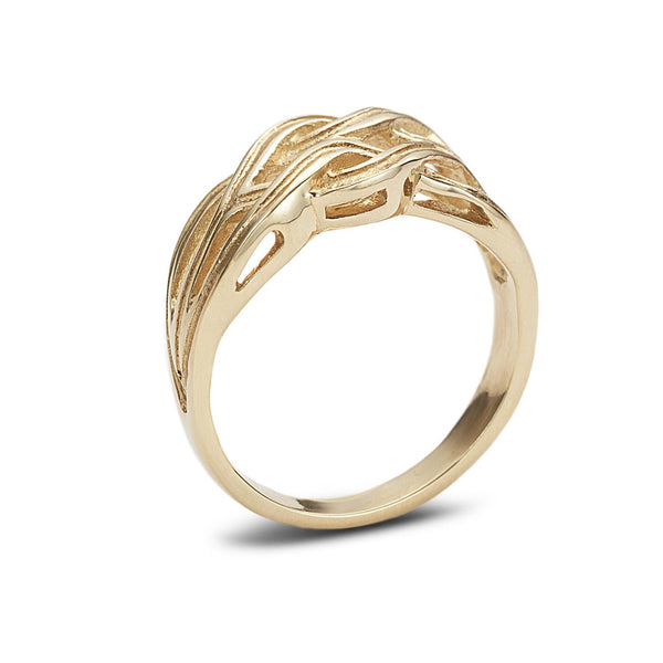 Knot ring with gallery - shiri tam fine jewelry