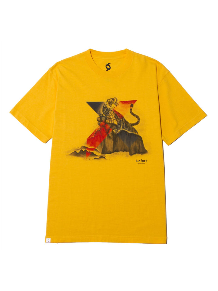 ORIENTAL X TIGER TEE - REGAL YELLOW