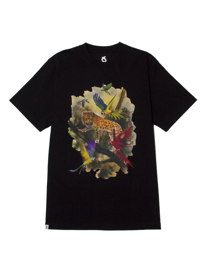 JUNGLE NEW STANDARD LEOPARD TEE - BLACK