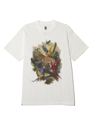 JUNGLE NEW STANDARD LEOPARD TEE - WHITE