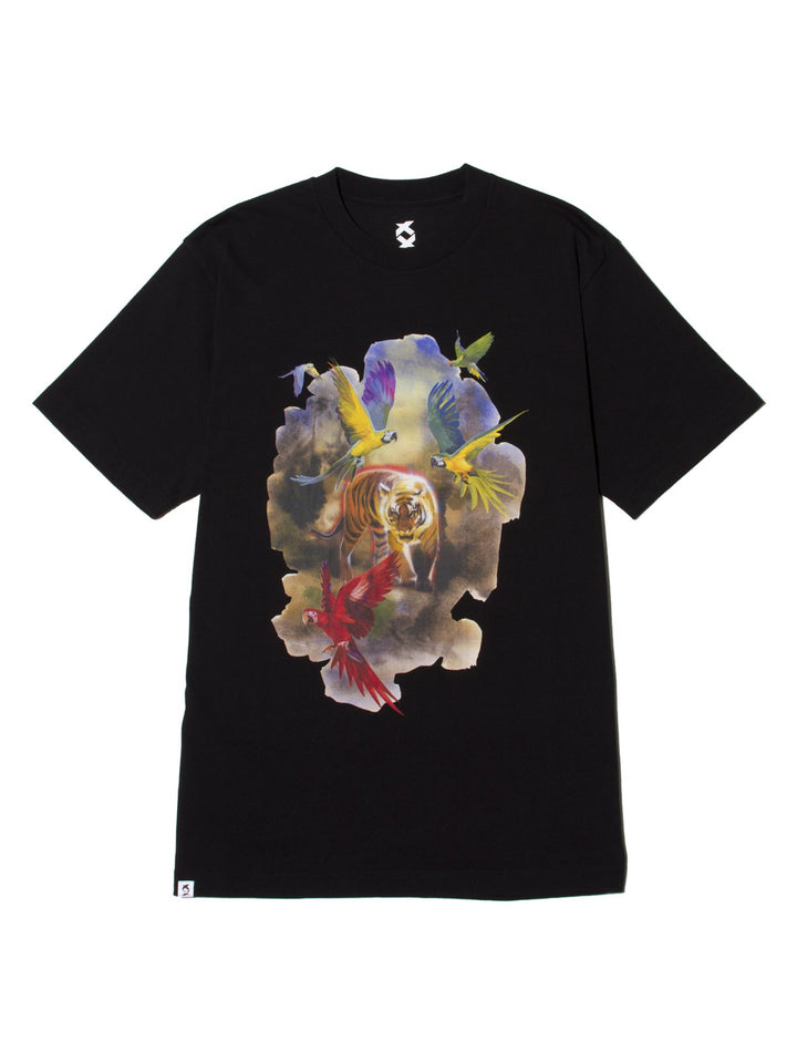 JUNGLE NEW STANDARD TIGER TEE - BLACK