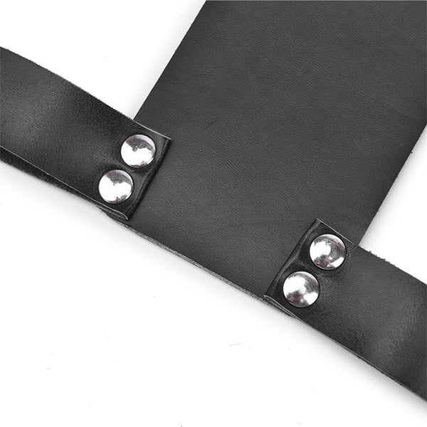 BDSM Fetish Adult SM Game Leather Handcuff Slave Neck Collar Hand Restraint Wrist Cuffs Bondage Harness