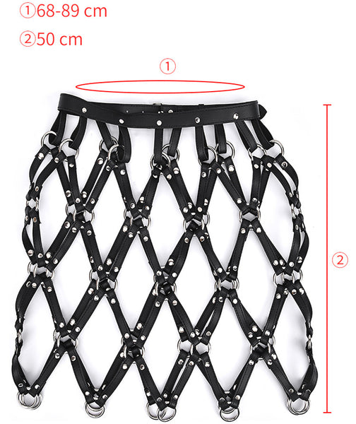 Adjustable sexy Garter Belts Chain Belt for women Erotic Harness Waistband BDSM Bondage Straps Leather Skirt