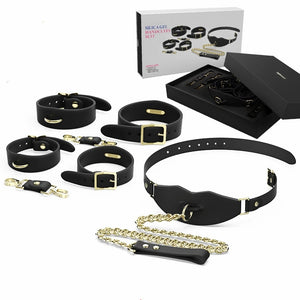 BDSM Tool Silicone Bondage Restraint Set Contains Handcuffs Ankle Cuffs Mouth Gag In 1 Kit