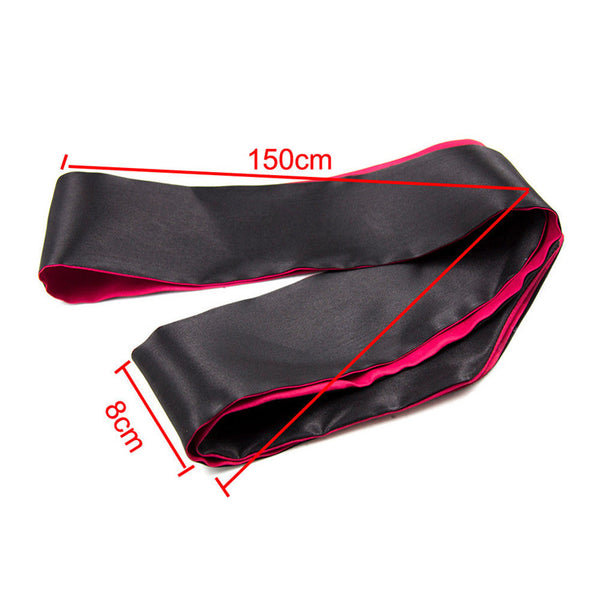 Sexy Black Soft Silk Satin Tie Eye Shade Blindfold Cover Band Blinder Ribbon Bondage Sex Product Blind Mask