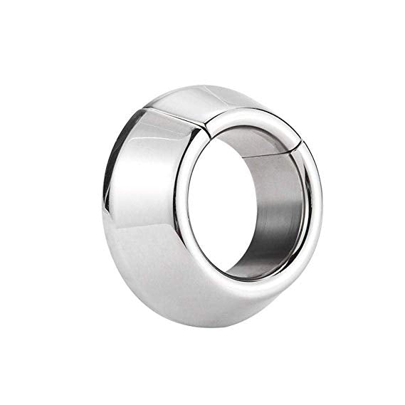 Stainless Steel Magnetic Ball Stretcher Scrotum Ring Cock Restraint