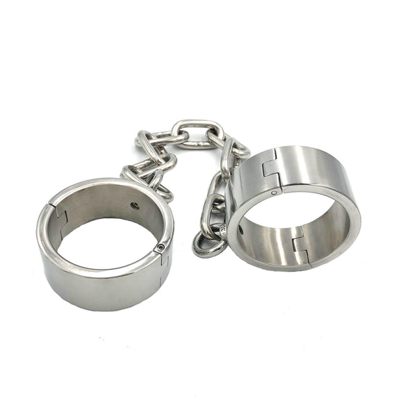 Stainless Steel Ankle Cuffs Locked with Screw 4CM Height