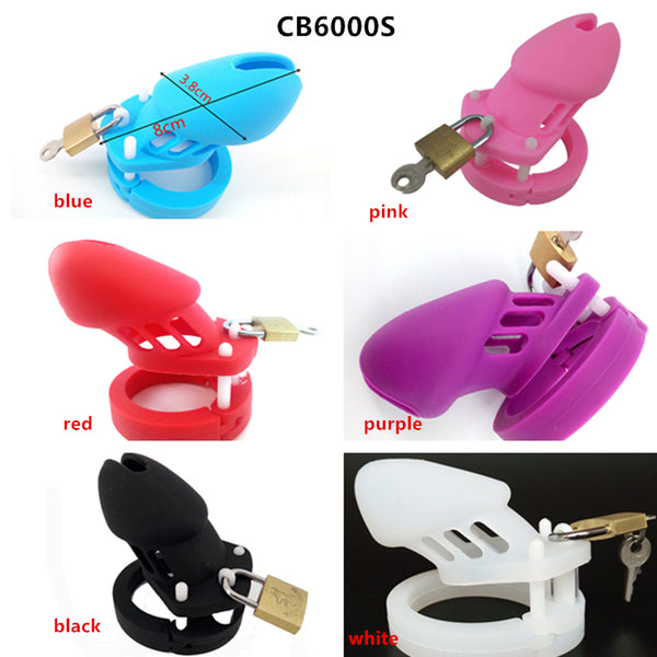 Male Silicone Chastity Cage CB6000/CB6000S 7 Colors Optional