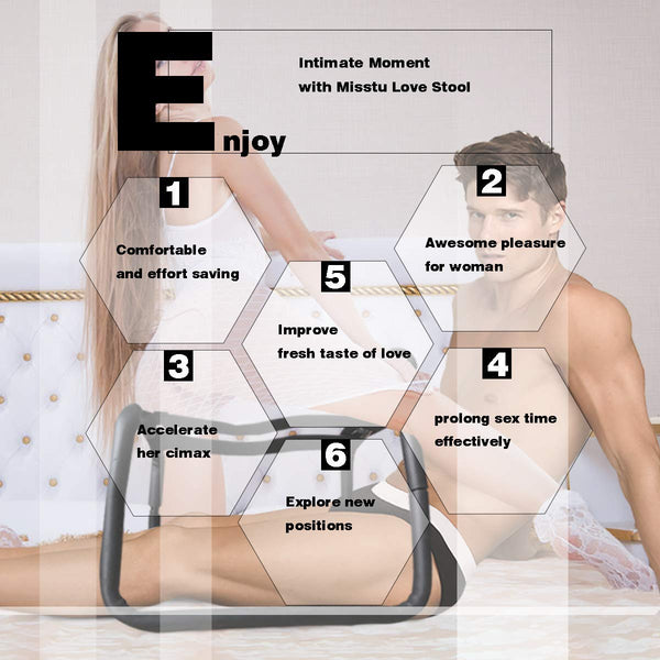 Sex Furniture Positions Mount Stools Weightless Sex Position Aid Chair with Handrail