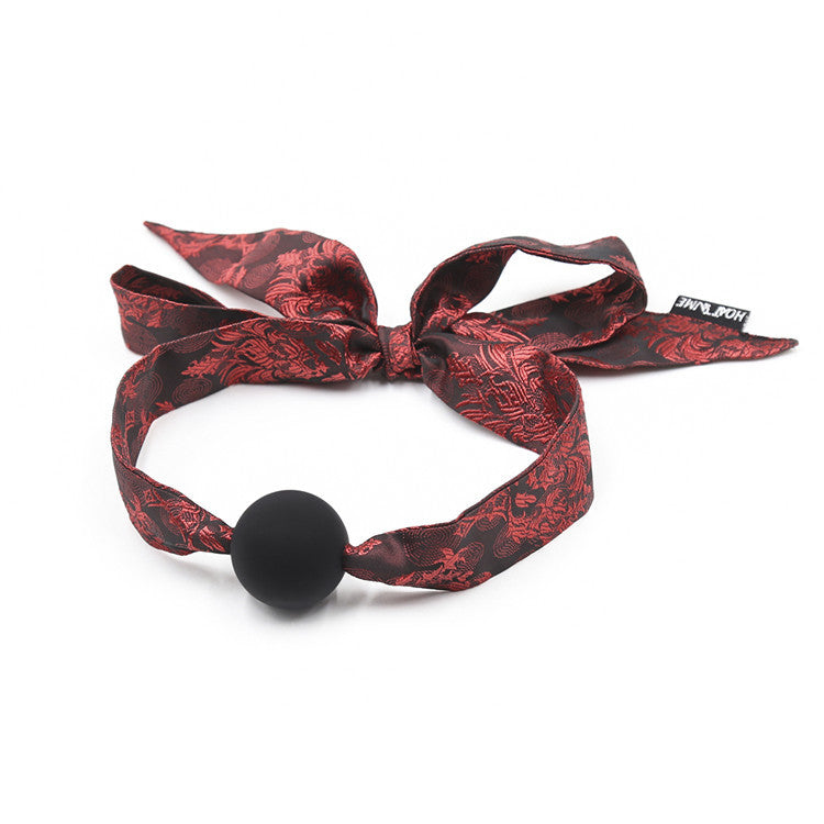 Chinese Style Cloth Strap Belt Silicone Ball Mouth Gag
