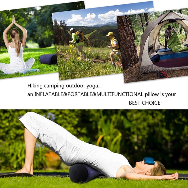 Inflatable Portable Mount Bolster Roll Yoga Pillow for Women Long Round Cushion Aid for Couples Masturbation Positioning for Deeper Supportive