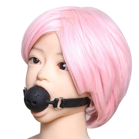 Full Silicone Breathable Ball Gag Open Mouth Gag Bondage Restraints Sex Toys For Couple Size S M L