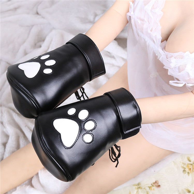 High Quality PU Leather Bdsm Handcuffs For Sex Bondage Restraints Bear Paw Fetish Slave Gloves Adult Games Sex Toys For Couples