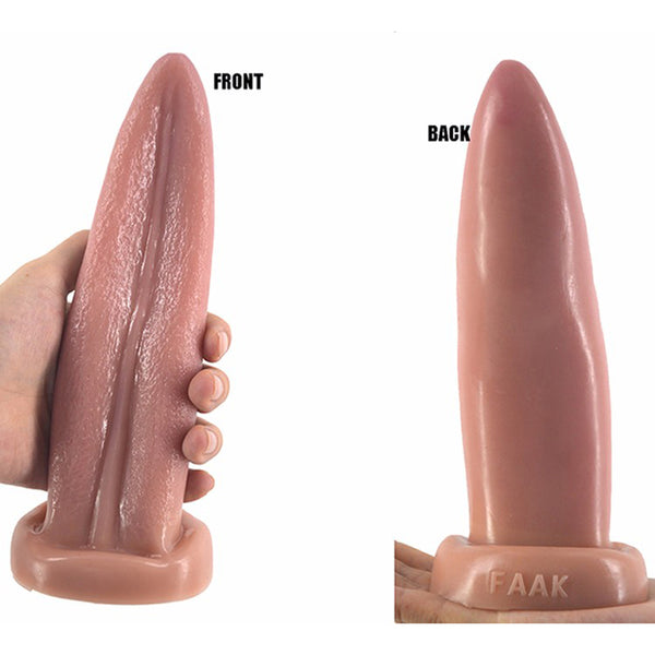 20*5.7cm PVC Tongue Shape Dildo F45