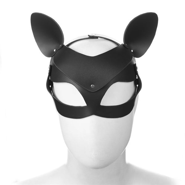 Fox Cat Leather Mask Exquisite Cosplay Props SM Game Queen Role Accessory