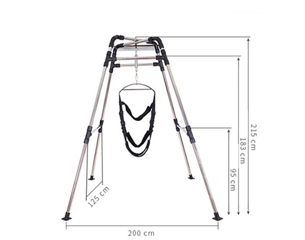 Stainless Steel Frame Adult Swing Yoga Hanger Sex Furniture