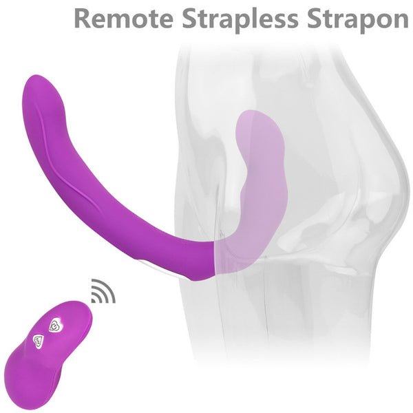 10 Speeds Strapless Strapon Dildo Vibrator Wireless Strap on Lesbian Double Penetration Dildo We Share Vibe Sex Toys for Woman