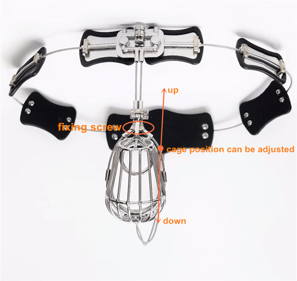 Linked Design Waist Belt Full Size Adjustable Male Chastity Belt HBS094