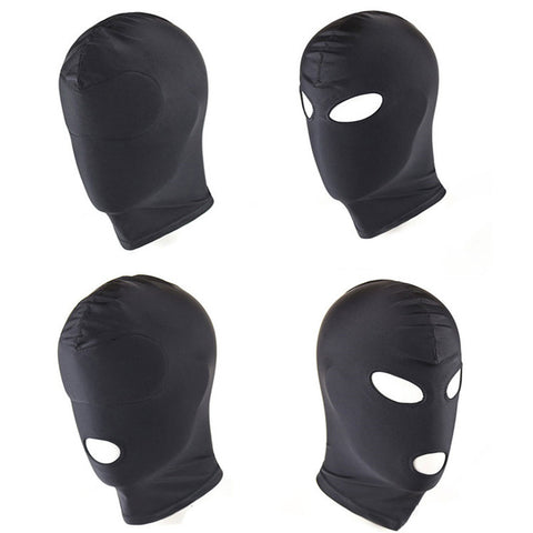 Bondage Fetish Party Cosplay Elastic Fabric Mask Head Hood Adult Game Headgear