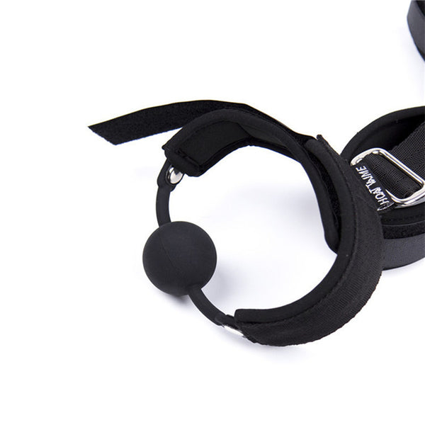 Bondage Fetish Sex Toys BDSM Restraint Collar Handcuffs Ankle Cuffs Mouth Gag Exotic Accessories