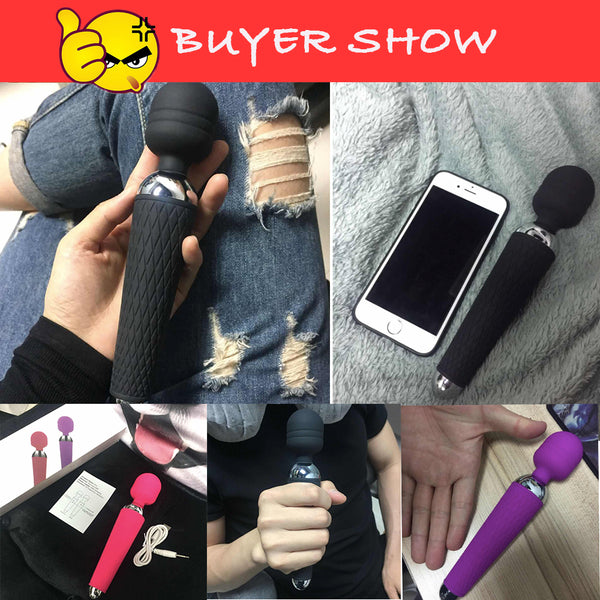 Powerful Vibrator for Woman 10 Speed Magic Wand Vibrators Clit Massager Adult Sex Toys