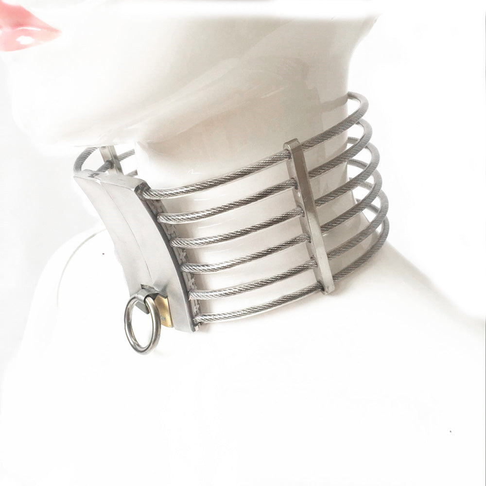 Stainless Steel Oval Shape High Neck Collar