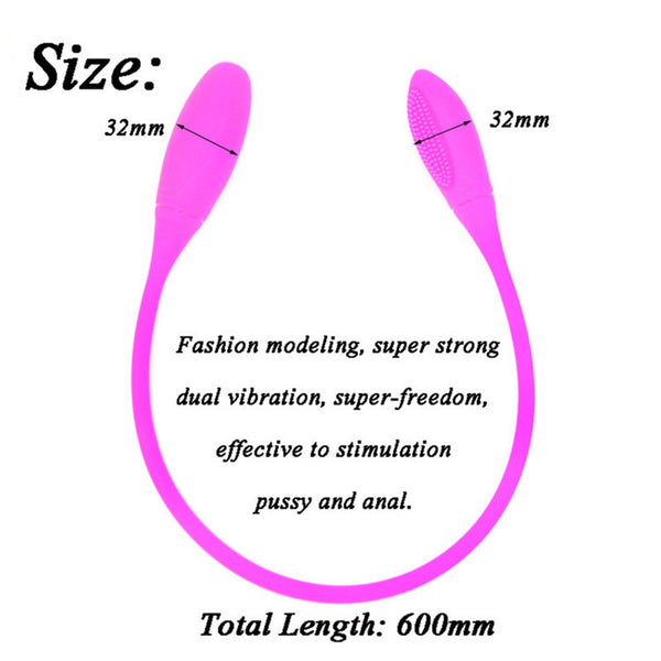 Double Vibrator G Spot Vibrator 7 Speed Vibration Female Masturbator