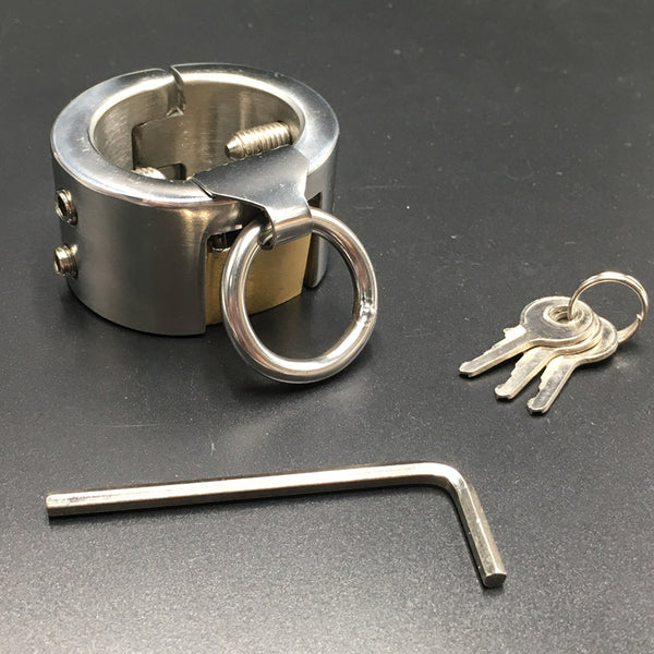 Stainless Steel Kalis Teeth Spiked Male Chastity Device Scrotum Ball Stretcher Pendant Ring Testicular Locking Ring