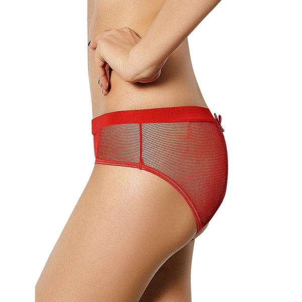 AP5091 Women Underwear Open Back Low Waist Panties Hollow Out See Though Plus Size Sexy Briefs