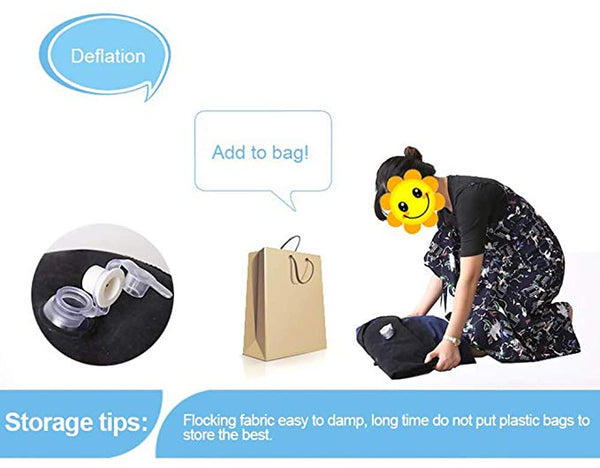 Inflatable Wedge Bed Sex Position Pillow Portable Magic Cushion Ramp Pillow PVC Flocking Travel Pillow