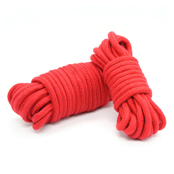 Sex Slave Bondage Rope Soft Cotton Knitted Rope BDSM Restraint Sex Toys For Couple 5M/10M/20M 3 Lengths For Optional