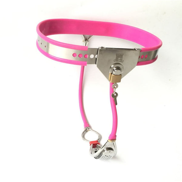 Stainless Steel Female Chastity Belt BDSM Chastity Fetish Device