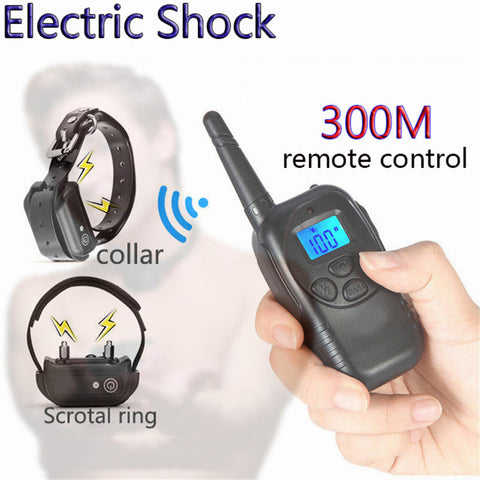 Remote Control Electric Shock Neck Collar Penis Ring Dual Use Electro Stimulation Massager