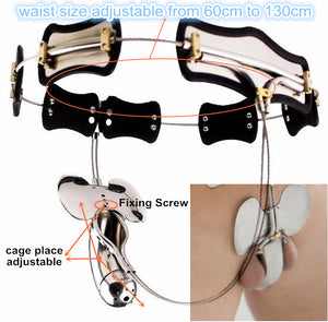 A Chastity Belt Kit Fit Most Men Full Size Adjustable Male Chastity Belt with Butterfly Shield HBS097