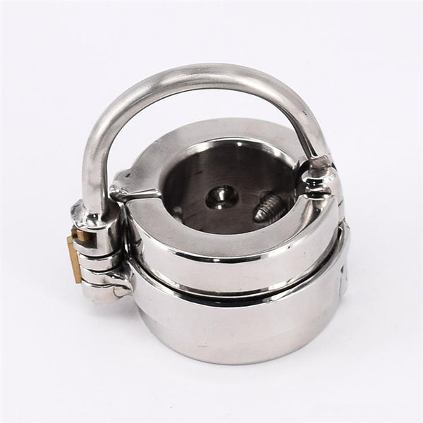 Male Spiked Ball Stretcher Stainless Steel Penis Bondage Metal Scrotum Rings BDSM Toys For Men