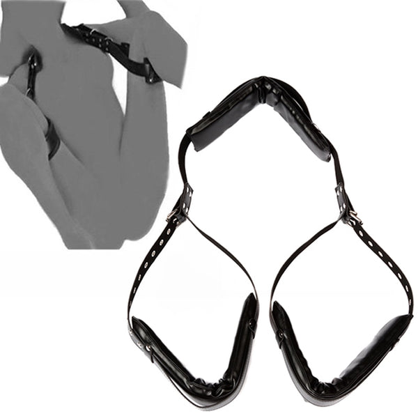 Wholesale 30pcs/Lot Fetish Sex Accessories Black Ankle Cuffs BDSM Bondage Restraints Open Legs Slave Adult Games Erotic Sex Toys For Sex Shop