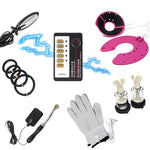 Electric Shock Sex Toys Dildo Plug For Vagina Silicone Penis Ring Breast Massage Glove Nipples Sucker