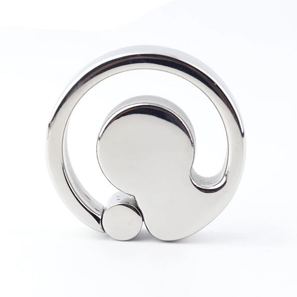 290g(10.2oz) Ball Stretcher U Groove Design Scrotum Ring Stainless Steel Bondage Pendant