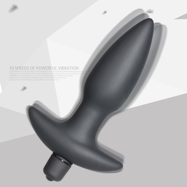 Silicone Vibrating Butt Plugs Anal Vibrator Anal Sex Toys 10 Speed Vibration Anal Bullet