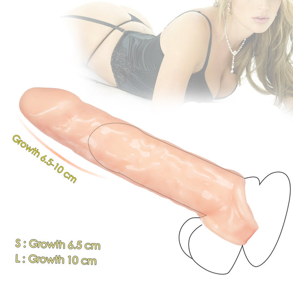 Wholesale 30pcs/Lot Penis Extender Sex Toys For Men Reusable Condom Dick Sleeve Male Realistic Thick Cock Extender Delay Penis Sleeve