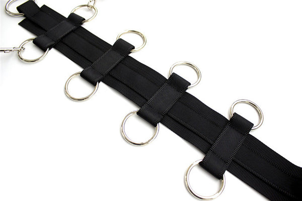 BDSM Fetish Slave Collar with Handcuffs Nylon Neck Collar To Hand Bondage Restraints Harness