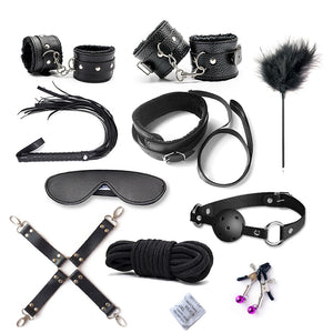 Wholesale 10sets/Lot SM Bondage Set 10pc/Set Bondage Gear Kit Fetish Restraints