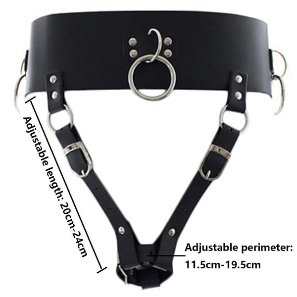 PU Leather Forced Orgasm Belt Magic Wand Holder BDSM Bondage Restraints Harness