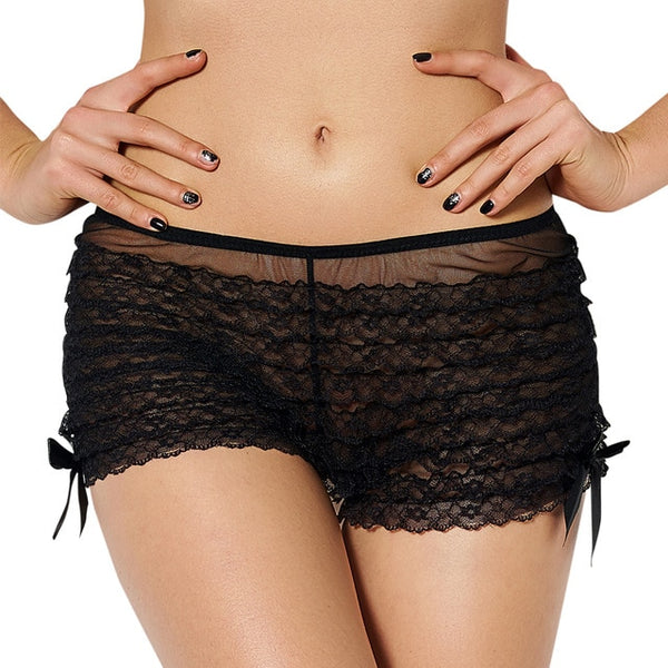 AP5077 Safety Short Pants Underwear Ladies Briefs Transparent Thong Lace Sexy Panties Shorty Femme Intimate Underwear