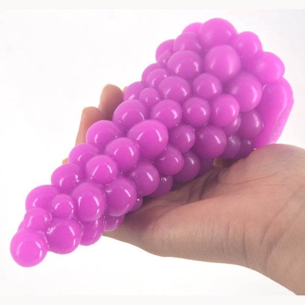Big Anal Plug Like Xmas Tree Grape Design Beads Anal Sex Toy